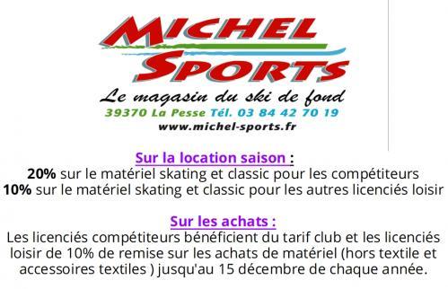 Offre licencies michel sports