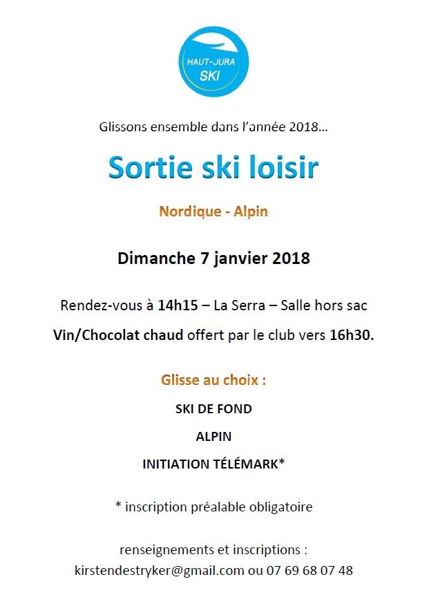 Sortie ski loisir 07012018